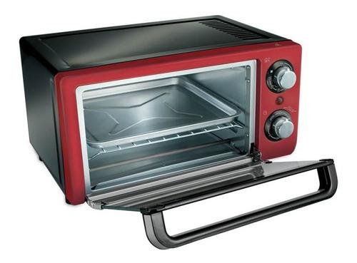 forno elétrico oster compact 220v vermelho 10l 3 funções