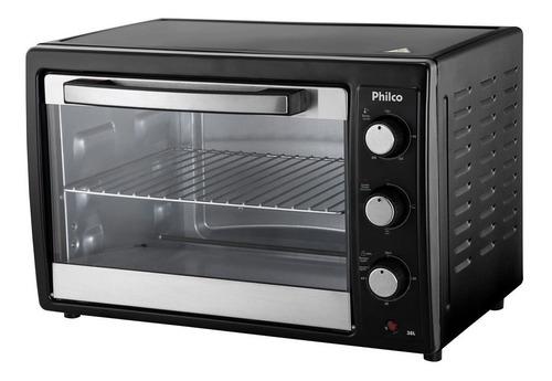 forno elétrico philco pfe38p com função timer preto 38l 110v