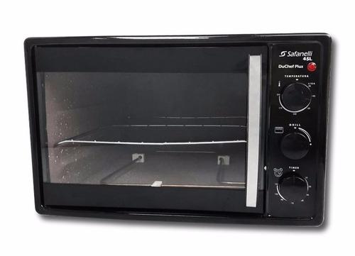 forno elétrico safanelli du chef plus 45l preto 220v