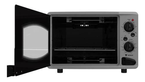 forno elétrico venax luxo 45l com grill e timer 120 min inox