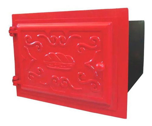 forno ferro fundido tampa ferro vermelho 50x47x33cm g