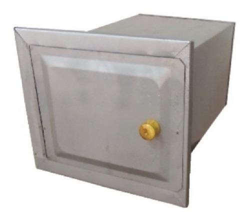 forno fogão lenha chapa galvanizada sem cinzeiro 38x30x33cm
