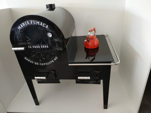 forno fogão vitrocerâmico maria fumaça