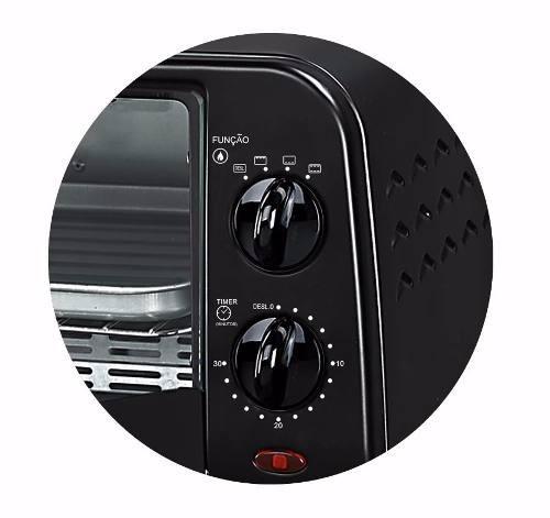 forno forninho elétrico com bandeja e grelha 9l 800w 110v