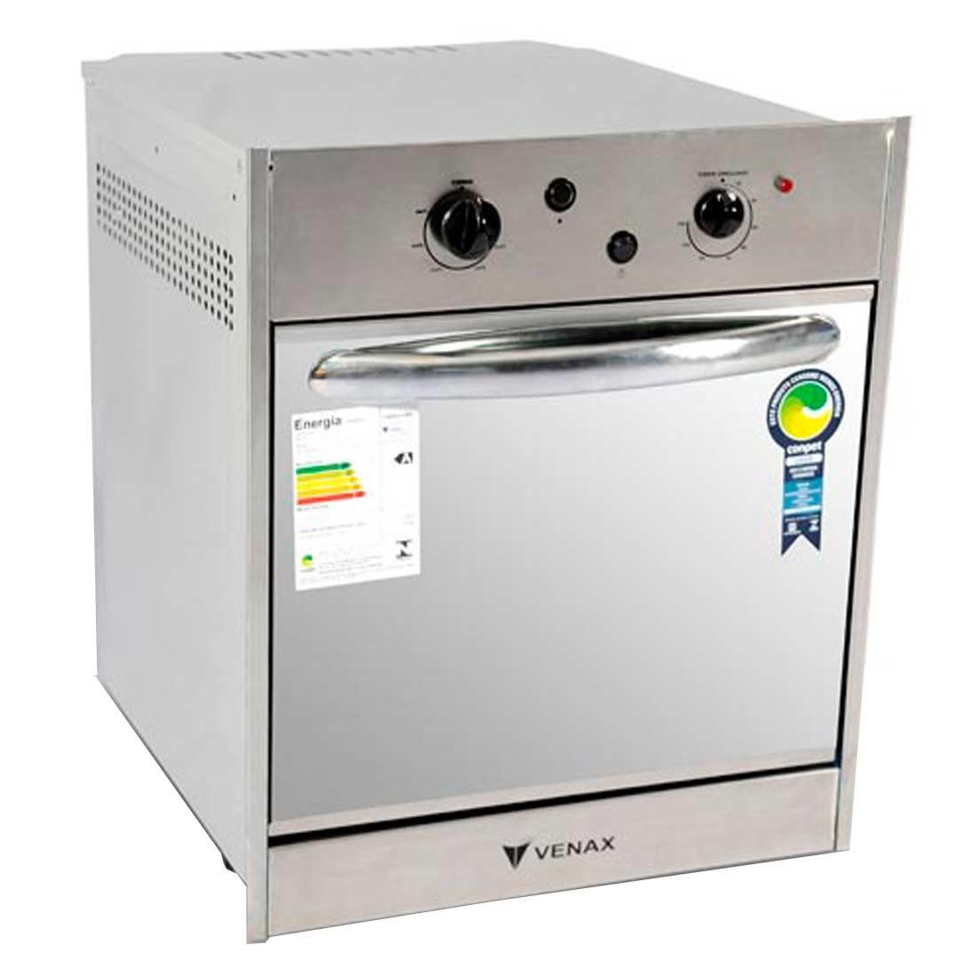 Forno a g s de embutir 50 litros cristallo gn inox venax for Forno a gas