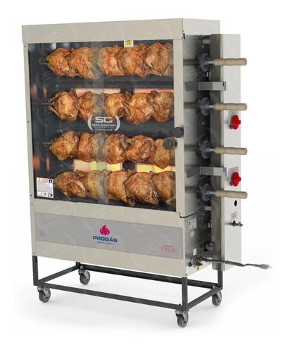 forno industrial gás pr621g progás frangueira 4 espetos