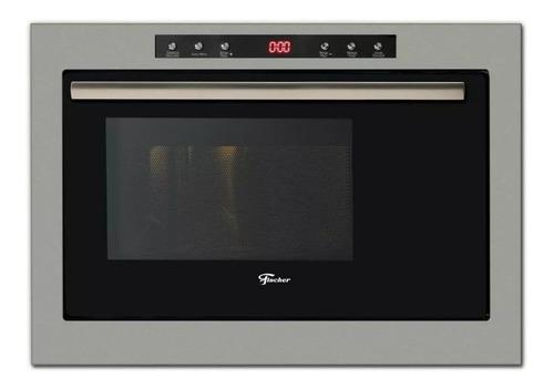 forno micro-ondas de embutir fischer dourador 25l inox 55522