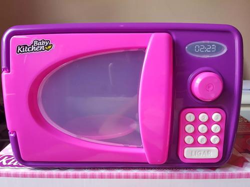 forno microondas infantil com sons e luz - baby kitchen