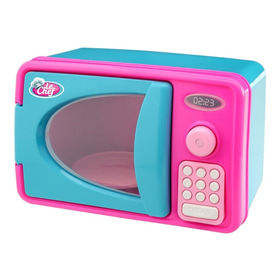 Forno Microondas Infantil Rosa C/ Luz E Som Usual Brinquedos
