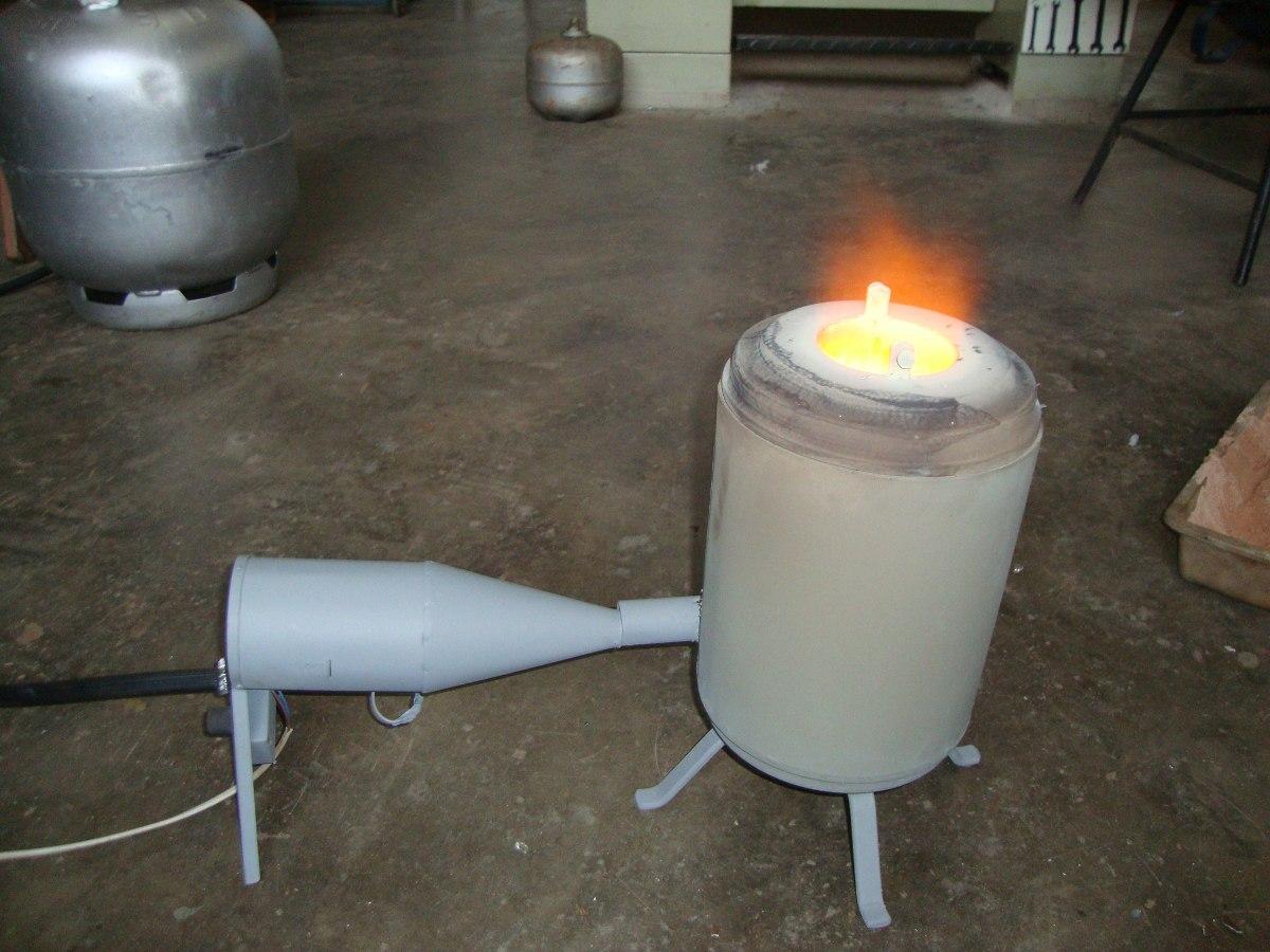 Forno para fundi o de aluminio a g s c ventoinha for Forno a gas