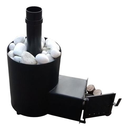 forno para sauna seca a lenha p/ 15m3 direto da fábrica
