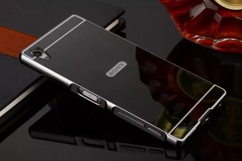 forro aluminio lujo espejo sony xperia z5