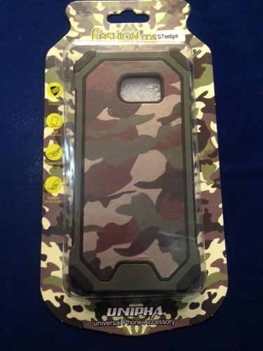 forro antigolpe/armo case militar camuflado  s6 edge s7 edge