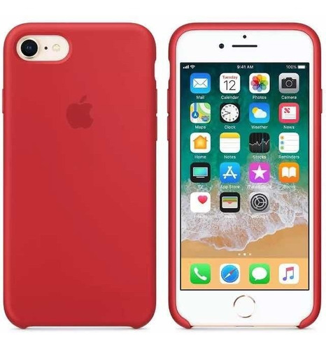 forro apple case silicon iphone 6/6s, 7/7plus, 8/8plus, x/xs