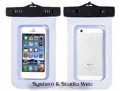forro bolsa estuche sumergible agua impermeable celular