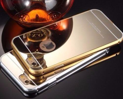 forro bumper aluminio tipo espejo iphone 5/5s 6/6s  6p/6splu
