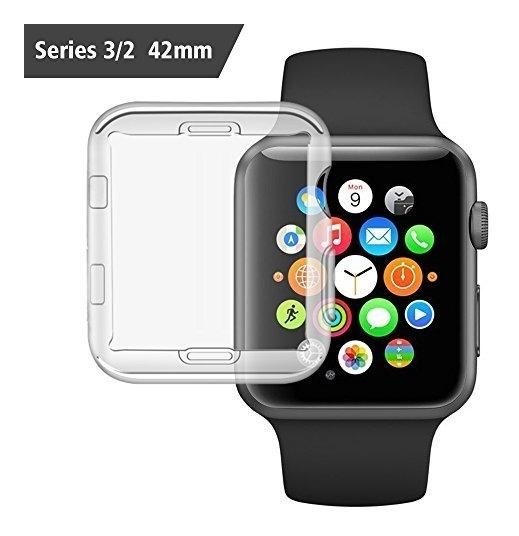 super popular f66df 9b38b Forro Bumper Transparente Case Para Apple Watch iPhone 42mm