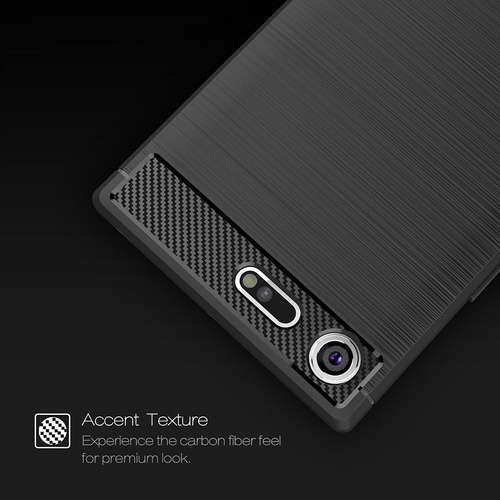 forro  carbono  fiber + vidrio 2.5d sony xperia xz1 g8342