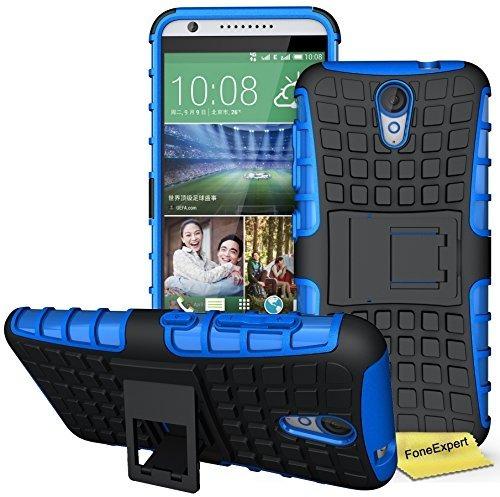 forro case htc desire 620/820 mini shockproof color azul new