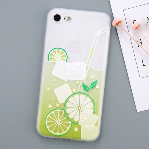forro coctel summer iphone 6 / 6 plus 7 / 7 plus / 8  8 plus
