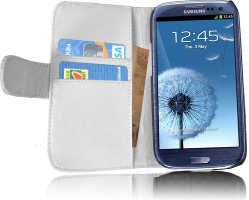 forro cuero samsung galaxy s3 i9300 + 2 lamina pantalla+ gps