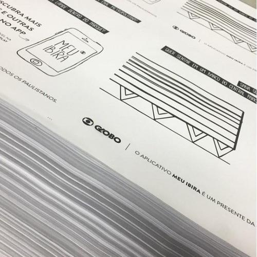 forro de bandeja personalizados c/1000 unds - 1x0 cor