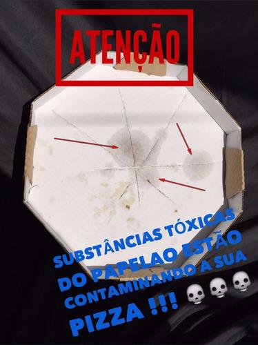 forro de caixa de pizza n.35 octogonal papel manteiga c/800