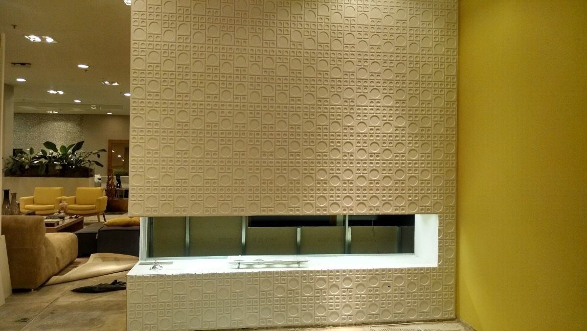 Forro de pvc 50cm x 50cm decorativo placas 3d r 6 79 em for Placas pvc para paredes