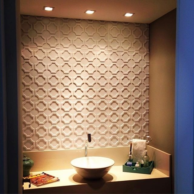 Forro de pvc decorativo placas 50cm x 50cm 3d r 8 89 em - Placas para decorar paredes ...