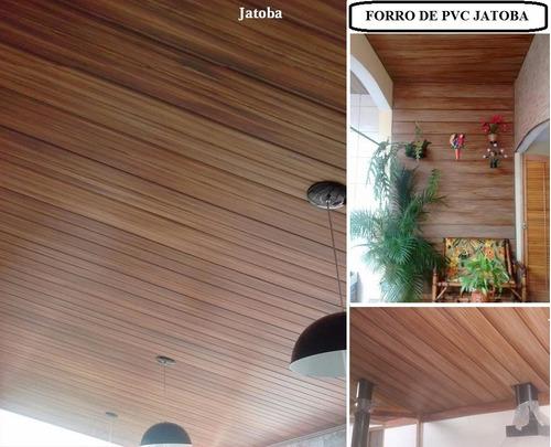forro de pvc m² instalado/colocado sp c/ garantia amadeirado