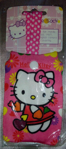 forro de telefono media protectora de hello kitty