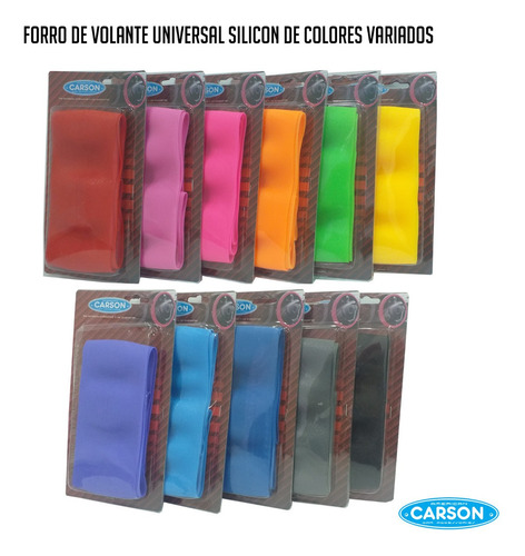forro de volante universal silicon de colores mayor y detal