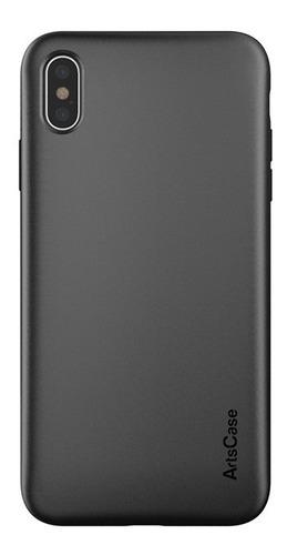 forro doble protección artscase iphone xs max negro / negro