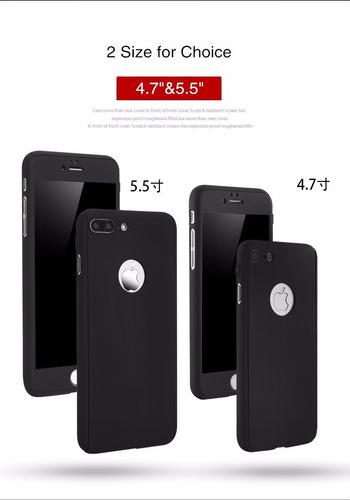 forro estuche 360º iphone 5 / se / 6 / 6s / 7 / plus carcasa