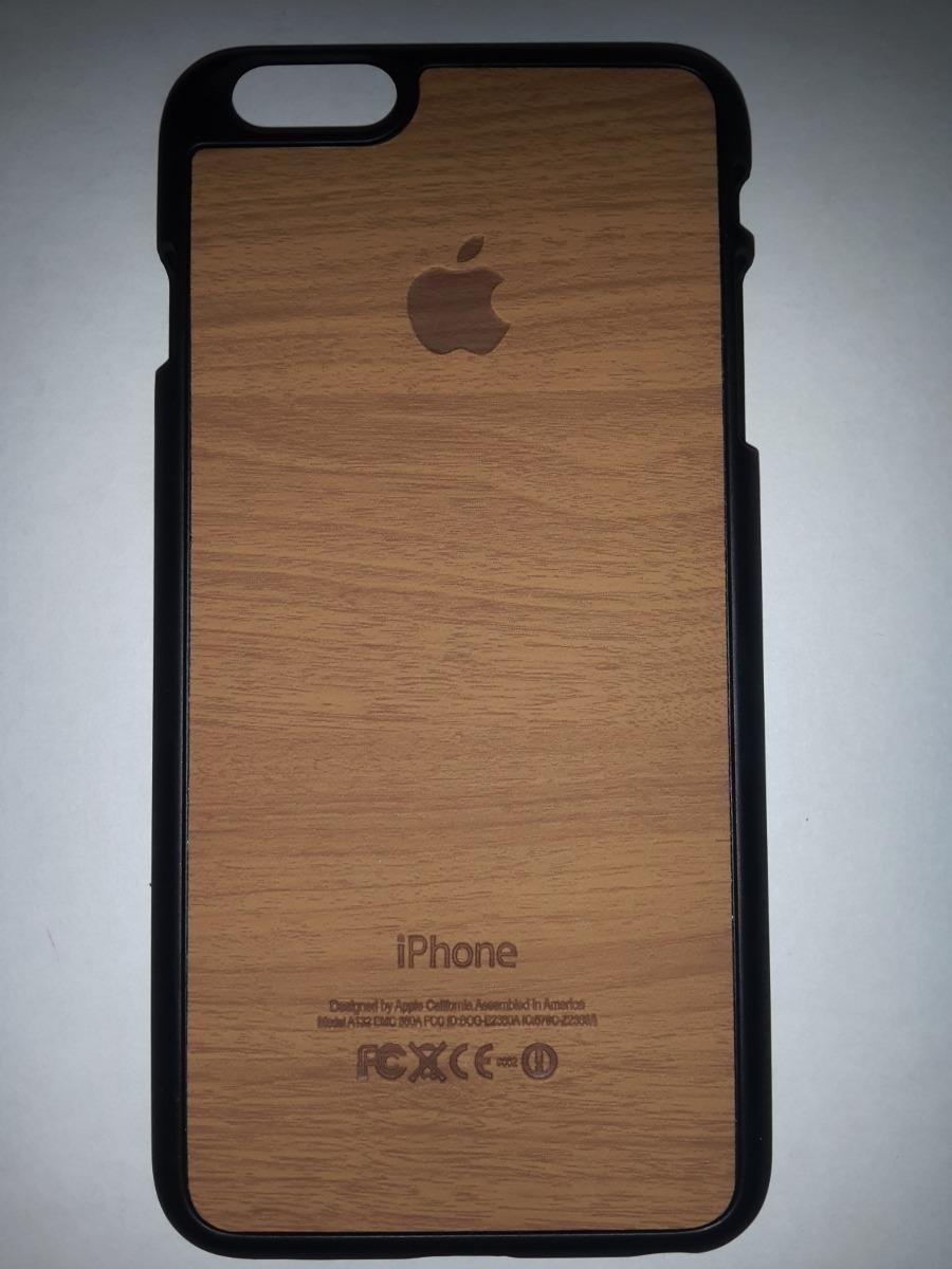 Forro Estuche Apple iPhone 6 Plus Apariencia Madera - Bs. 7,00 en Mercado  Libre