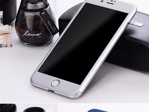 forro estuche carcasa 360 iphone 5s/6/6s/7/7plus + vidrio