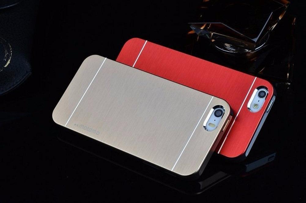 acb7917997a Lujoso Forro Estuche iPhone 4/4s/5/5s, Aluminio+goma Motomo - Bs ...