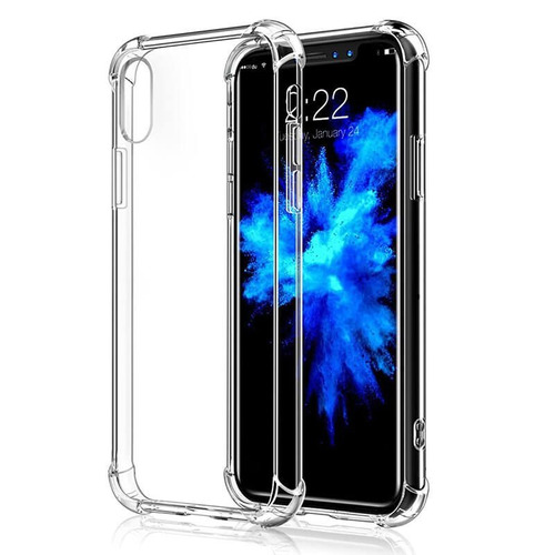 forro estuche protector antishock iphone x, xs transparent