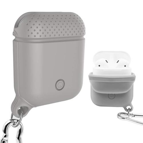 forro estuche protector de silicona airpod audifonos gris