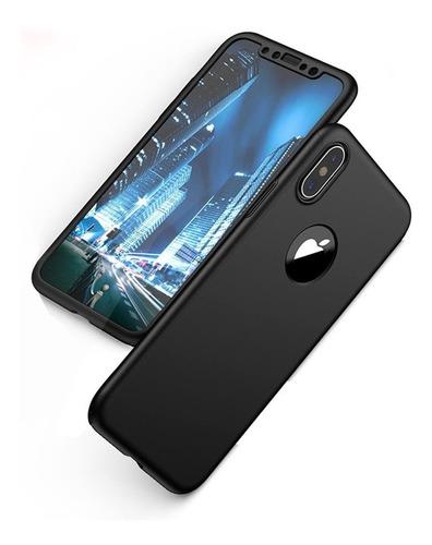 forro estuche protector lujo 360 iphone x, xs, xr, xs max