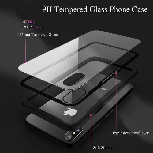 forro estuche protector vidrio trasero iphone x,xs,xr,xs max