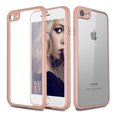 forro estuche transparente iphone  7 / 7 plus / 8 / x / xs