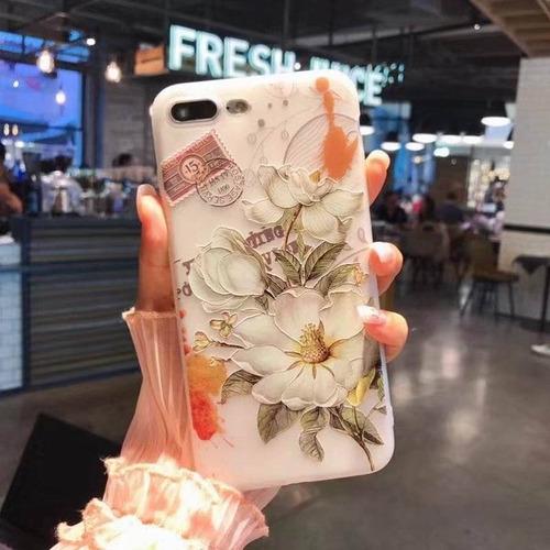forro flores pain iphone 6 / 6 plus 7 7 plus 8 8 plus x 10