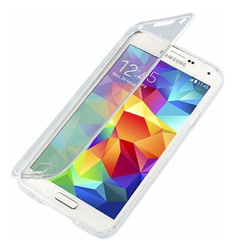 forro galaxy s4 i9500  samsung transparente flip cover