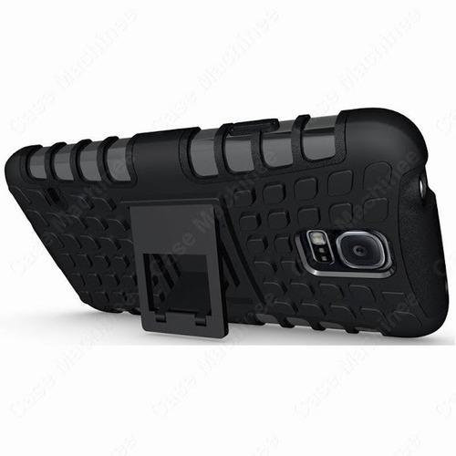 forro galaxy s5 sm g900 stand case armor bumper combo lamina