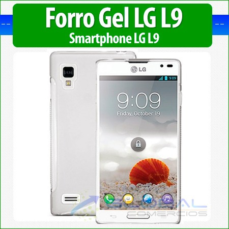 forro gel estuche funda case cover protector lg l9 p760
