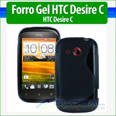 forro gel estuche funda case protector htc desire c a320e