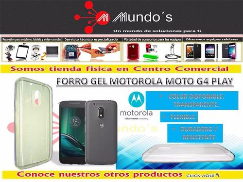 forro gel tpu motorola moto g4 play - mundosco