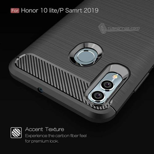 forro huawei p smart 2019 fibra de carbono