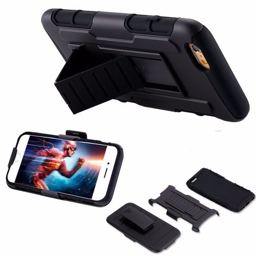 forro  iphone 4 4s 5 5s 6 6s 6 plus defender doble con clip
